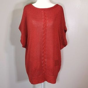 [Liz Claiborne] Rust Orange 80s Knit Top Size L